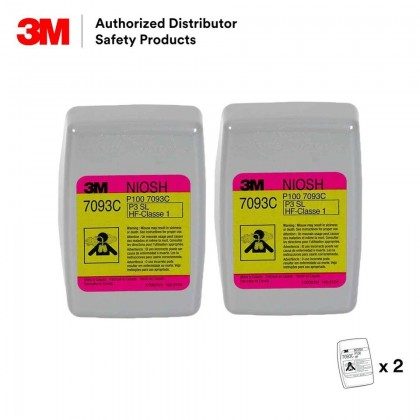 3M™ Hydrogen Fluoride Cartridge/Filter 7093C, P100